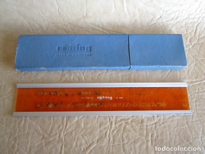 ANTIGUA REGLA NUMERICA ROTRING 5 MM (Plumas Estilográficas, Bolígrafos y Plumillas - Plumillas y Otros Elementos de Escribanía)