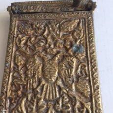 Escribanía: ANTIGUO PORTANOTAS BRONCE LABRADO. Lote 175150129