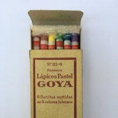 Escribanía: ANTIGUA CAJA DE PINTURAS PASTEL GOYA. Lote 175289490