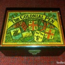 Escribanía: CAJA THE COLONIAL PEN. PLUMILLAS DE M. MYERS AND SON (BIRMINGHAM). VACÍA, MUY BUEN ESTADO. Lote 176032680