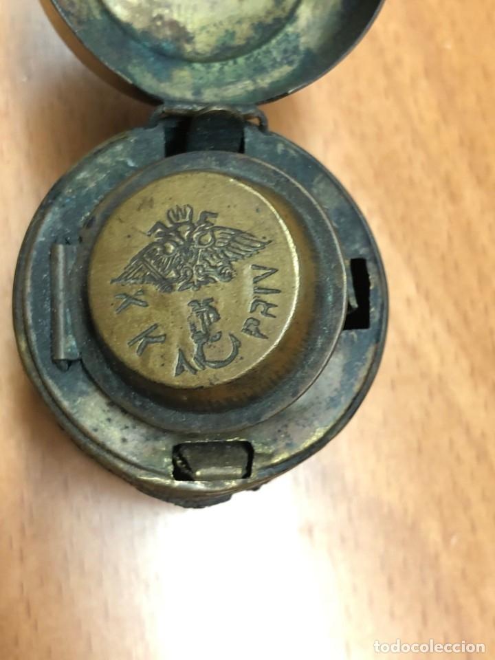 Escribanía: Tintero de viaje completo Principios de siglo XX Navy Inkwell - Foto 10 - 177328969