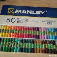 Escribanía: MANLEY 50 COLORES DE CERA. NUEVO. Lote 177501934