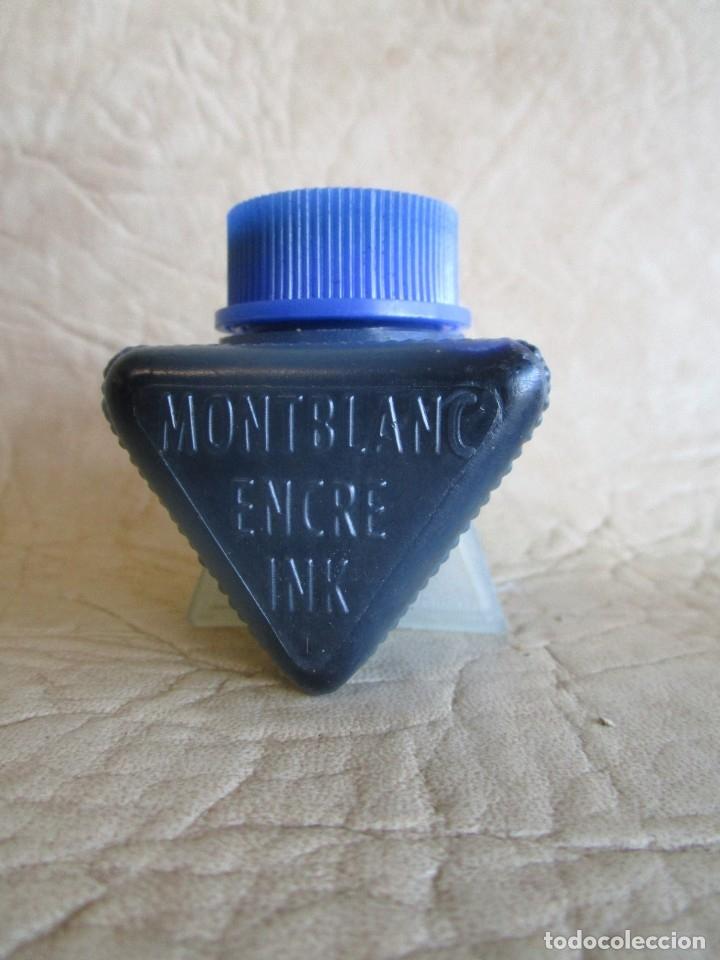 BOTE DE TINTA MONTBLANC AZUL PVC (Plumas Estilográficas, Bolígrafos y Plumillas - Plumillas y Otros Elementos de Escribanía)