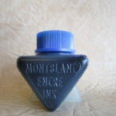 Escribanía: BOTE DE TINTA MONTBLANC AZUL PVC. Lote 177583255