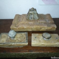 Escribanía: ANTIGUA ESCRIBANIA MARMOL Y BRONCE TAMAÑO 17 X 27 CM. Lote 177939202