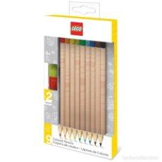 Escribanía: LEGO PACK DE 9 LÁPICES DE COLORES Nº2 CON TOPPERS. Lote 178337360