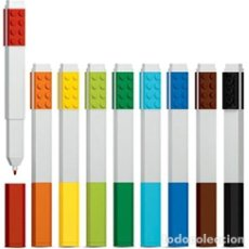 Escribanía: LEGO PACK ROTULADORES DE 9 PIEZAS, PUNTA FINA. Lote 178337666