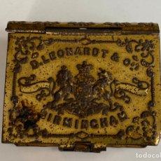 Escribanía: CAJA METALICA ESTUCHE DE PLUMILLAS D. LEONARDT , BIRMINGHAM. Lote 178591992