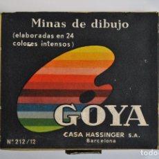 Escribanía: ANTIGUAS MINAS DE DIBUJO GOYA.. Lote 179547340