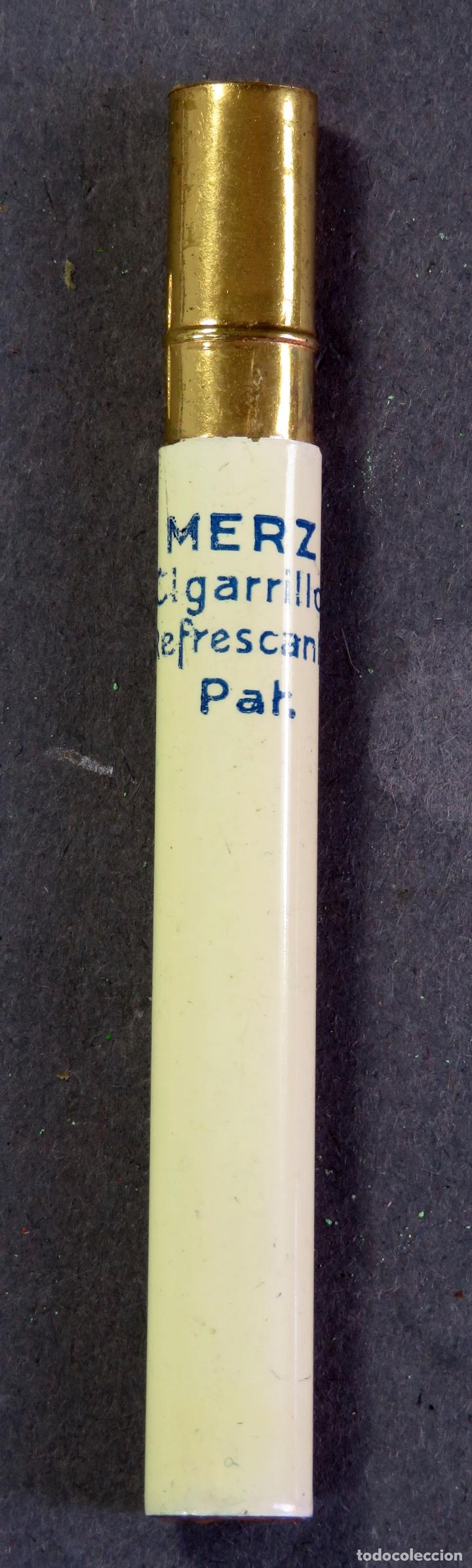 Escribanía: Lápiz publicidad Merz Cigarrillo refrescante con funda años 40 - 50 - Foto 2 - 180469031