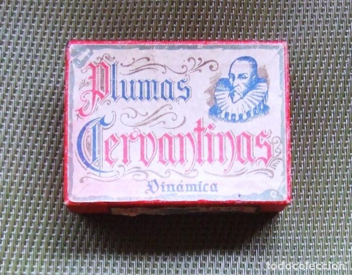 Escribanía: CAJA DE PLUMAS CERVANTINAS. 1946 - Foto 2 - 117216864
