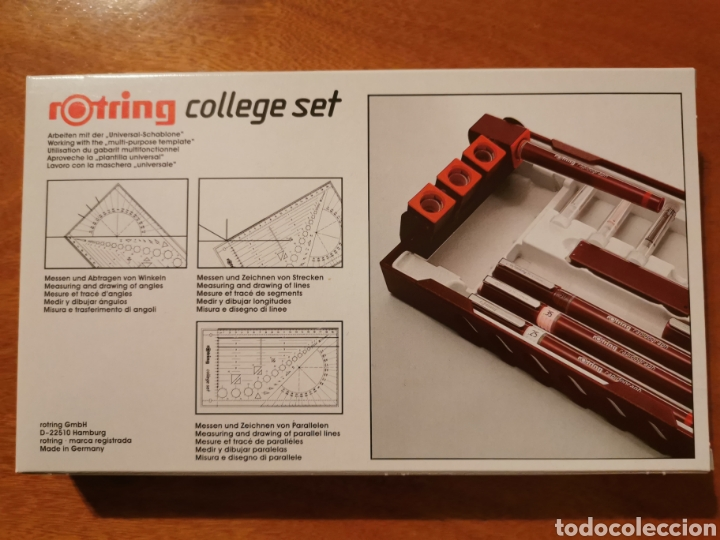 Escribanía: Rotring rapidograph college set pen-station NEW! - Foto 2 - 182784525