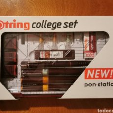 Escribanía: ROTRING RAPIDOGRAPH COLLEGE SET PEN-STATION NEW!. Lote 182784525