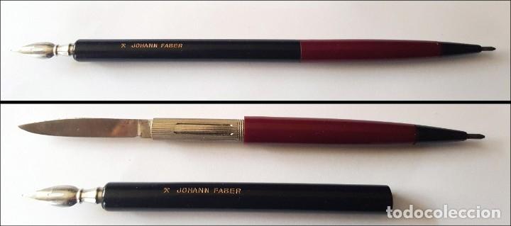 JOHANN FABER RARISIMA PLUMILLA + LAPIZ MECANICO + NAVAJA (Plumas Estilográficas, Bolígrafos y Plumillas - Plumillas y Otros Elementos de Escribanía)