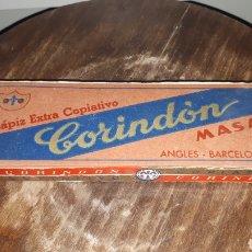 Escribanía: ANTIGUA CAJA CON 7 UNIDADES LAPIZ EXTRA COPIATIVO CORINDON MASATS ANGLES BARCELONA. Lote 183905031