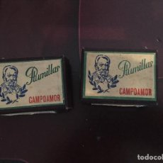 Escribanía: 2 CAJAS DE PLUMILLAS CAMPOAMOR. Lote 184011281