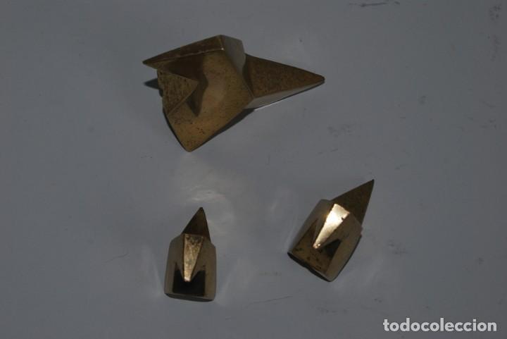 Escribanía: TRES PAJARITAS DE BRONCE MACIZO - ESCULTURA - PISAPAPELES - Foto 5 - 186060902