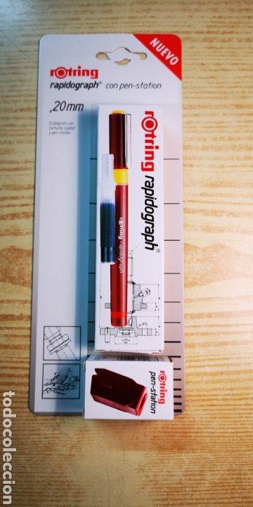ROTRING RAPIDOGRAPH 0,2MM A ESTRENAR (Plumas Estilográficas, Bolígrafos y Plumillas - Plumillas y Otros Elementos de Escribanía)