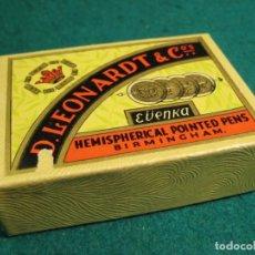 Escribanía: CAJA COMPLETA 100 PLUMILLAS LEONARDT PRECINTADA CALIGRAFIA PLATINOID. Lote 269132103