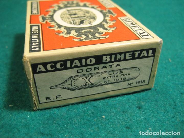 Escribanía: CAJA COMPLETA 100 PLUMILLAS LUS BIMETAL PRECINTADA CALIGRAFIA Nº 1918 E.F. - Foto 2 - 269132273