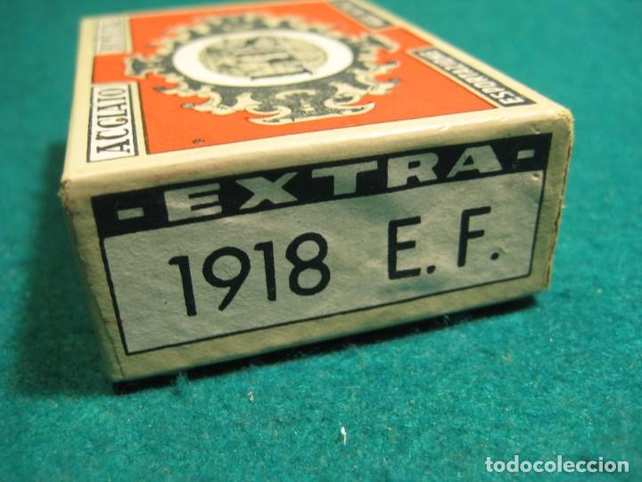 Escribanía: CAJA COMPLETA 100 PLUMILLAS LUS BIMETAL PRECINTADA CALIGRAFIA Nº 1918 E.F. - Foto 3 - 269132273