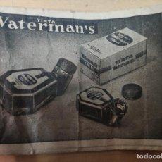 Escribanía: PLUMILLA - TINTA WATERMAN'S, AÑOS 40. NUEVA PARA ABRIR. Lote 191606758