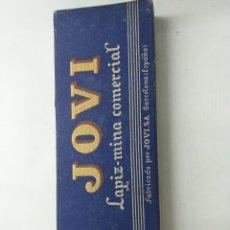 Escribanía: 2 CAJAS DE LÁPIZ DE CERA AZUL Y VERDE JOVI. Lote 194348526