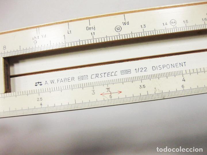 Escribanía: REGLA DE CÁLCULO SLIDE RULE FABER CASTELL 1/22 DISPONENT K5D - MADE IN GERMANY - BUEN ESTADO - Foto 3 - 194782721