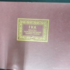 Escribanía: LIBRO CE CONTABILIDAD IVA FACTURAS RECIBIDAS COMPRAS Y GASTOS. Lote 194935872