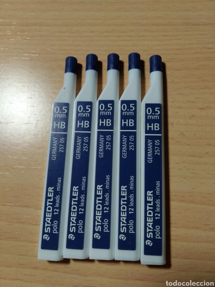 LOTE 5 MINAS LÁPIZ STAEDTLER POLO 0,5 HB. NUEVO (Plumas Estilográficas, Bolígrafos y Plumillas - Plumillas y Otros Elementos de Escribanía)