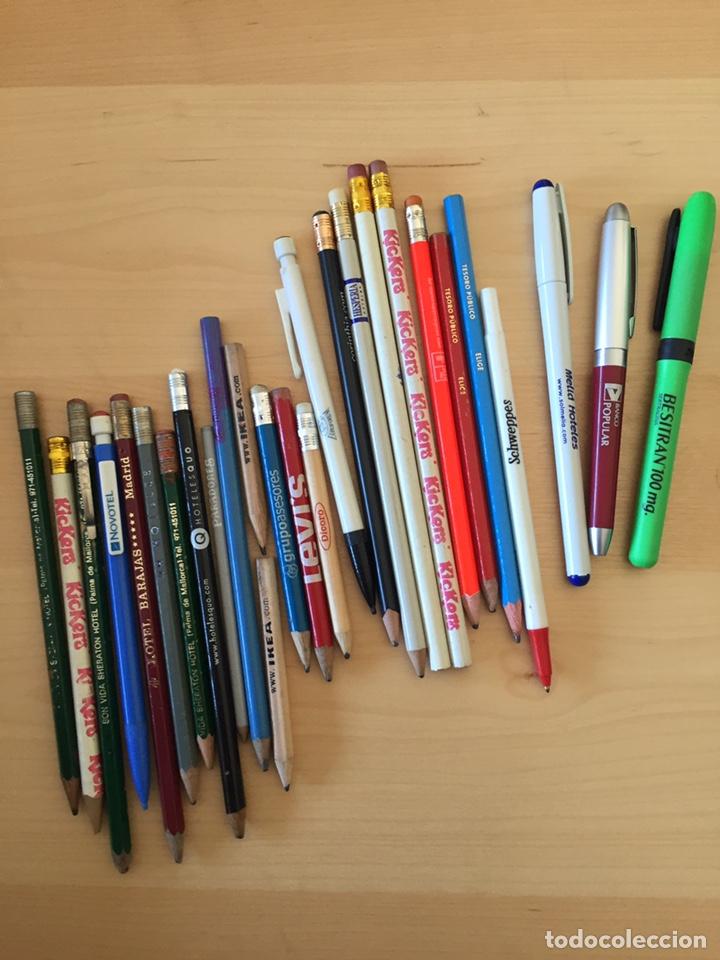 LOTE DE ANTIGUOS LÁPICES BOLÍGRAFOS DE PUBLICIDAD (Plumas Estilográficas, Bolígrafos y Plumillas - Plumillas y Otros Elementos de Escribanía)