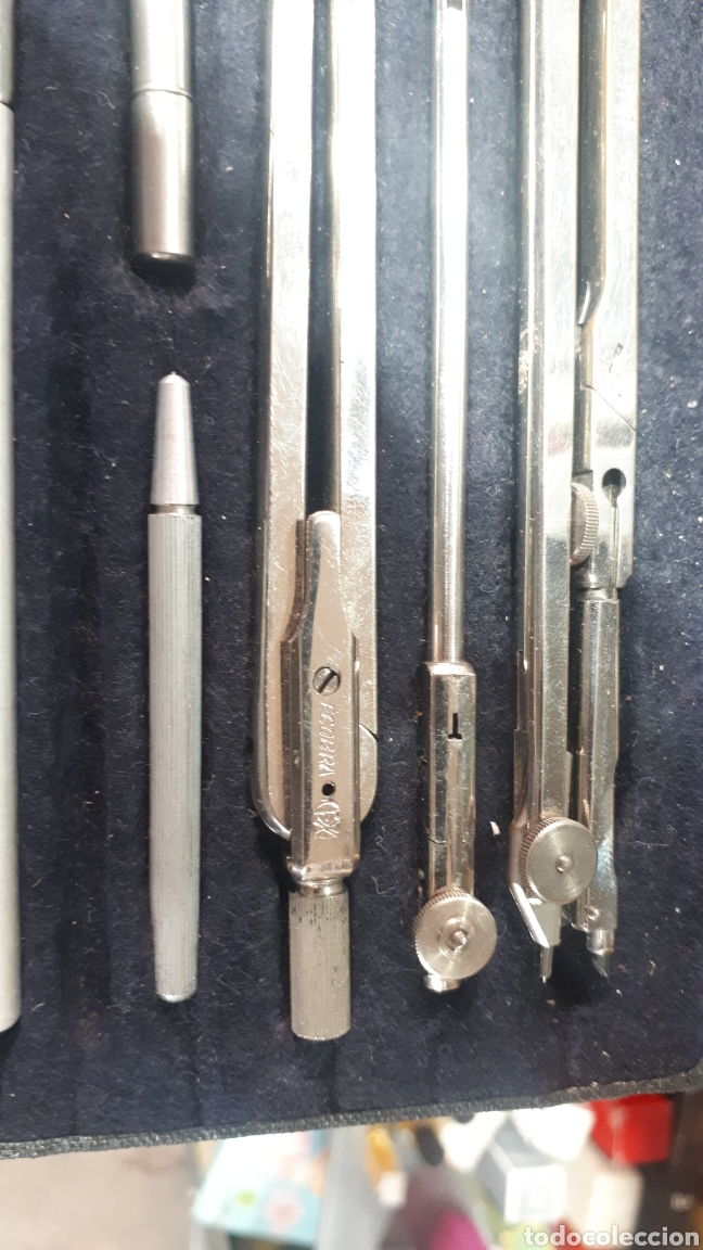Escribanía: Antiguo conjunto compás y accesorios ECOBRA en su caja original leer descripción - Foto 3 - 195003620