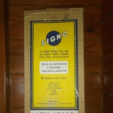 Escribanía: ANTIGUO FRASCO DE TINTA SIGNO Nº 732 AZUL-NEGRO 1L APROX EN SU CAJA ORIGINAL SIN ABRIR. Lote 195382253