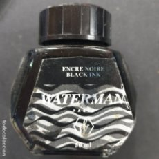 Escribanía: ANTIGUO TINTERO-WATERMAN-BLACK-NEGRO. Lote 195501795