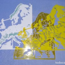 Escribanía: 3 ANTIGUAS PLANTILLAS ESCOLARES MAPA EUROPA MARCA DFH ORIGINALES AÑOS 70/80 EXCELENTE ESTADO. Lote 197869416