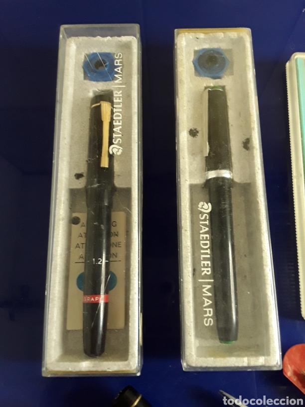 Escribanía: Lote de rotuladores para rotular + regla + tiralineas - Foto 2 - 199797503