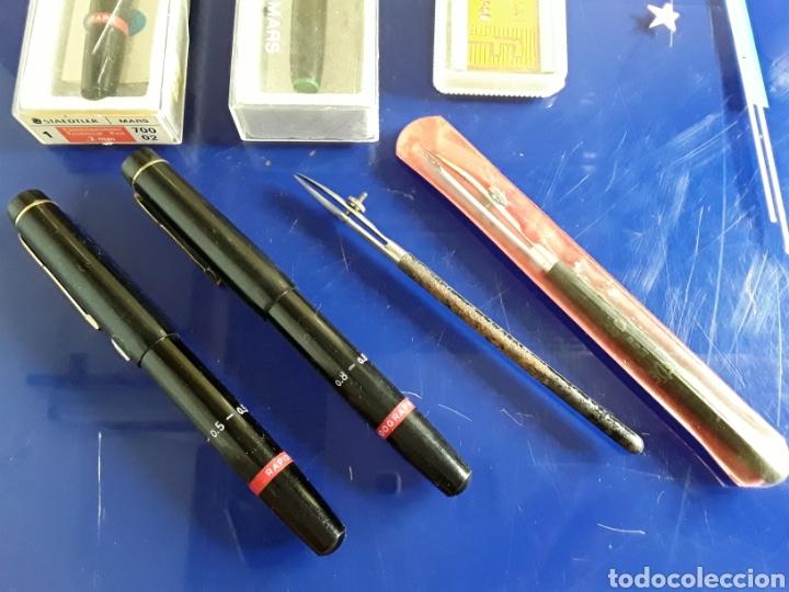 Escribanía: Lote de rotuladores para rotular + regla + tiralineas - Foto 3 - 199797503