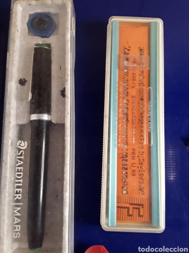 Escribanía: Lote de rotuladores para rotular + regla + tiralineas - Foto 4 - 199797503