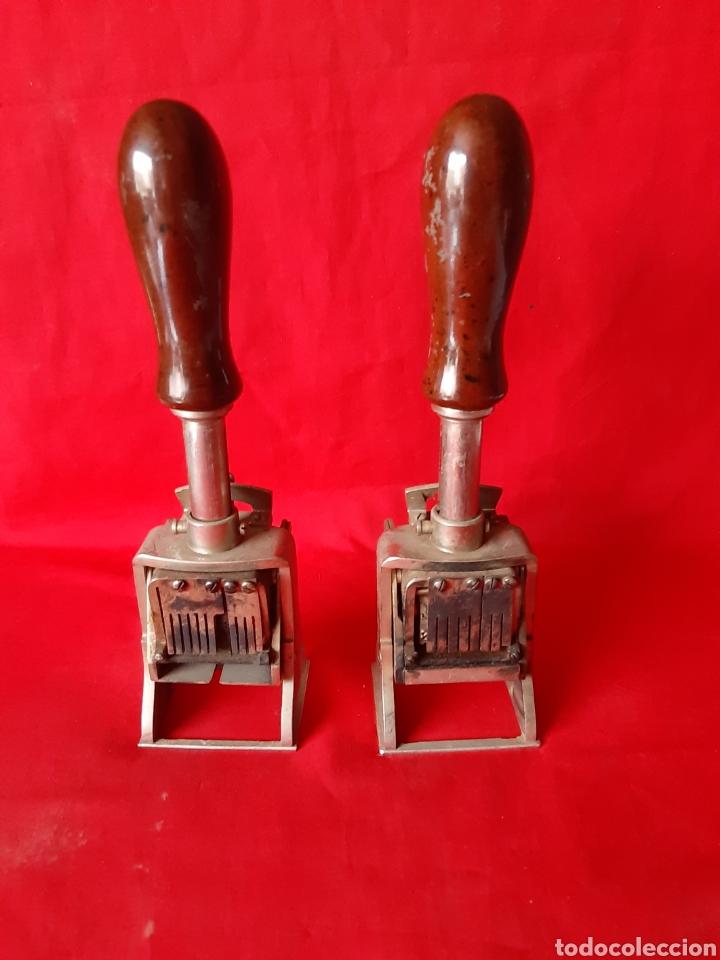 Escribanía: 2 sello selladores tampones de banco marca el casco Eibar - Foto 2 - 200044921