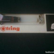 Escribanía: ESTILOGRAFO A TINTA CHINA ROTRING ISOGRAPH F 0,4 M/M. ROTRING. SIN USAR. Lote 200752900