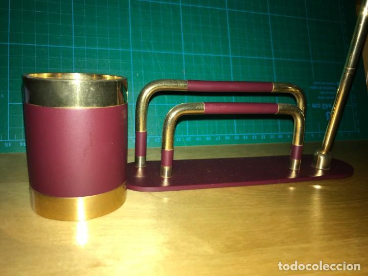 Escribanía: Porta Cartas y Plumas Metal - dorado y color vino - Foto 4 - 201674187