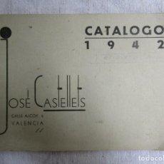 Escribanía: RARO CATÁLOGO 1942 VALENCIA ' JOSÉ CASTELLETS ' SELLOS CAUCHO ETIQUETAS ESMALTES, ALEGORÍAS FIRMAS +. Lote 203581298
