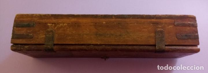 Escribanía: ANTIGUO PLUMIER DE MADERA - 28 x 7.5 x 6 CMS - Foto 5 - 204265632