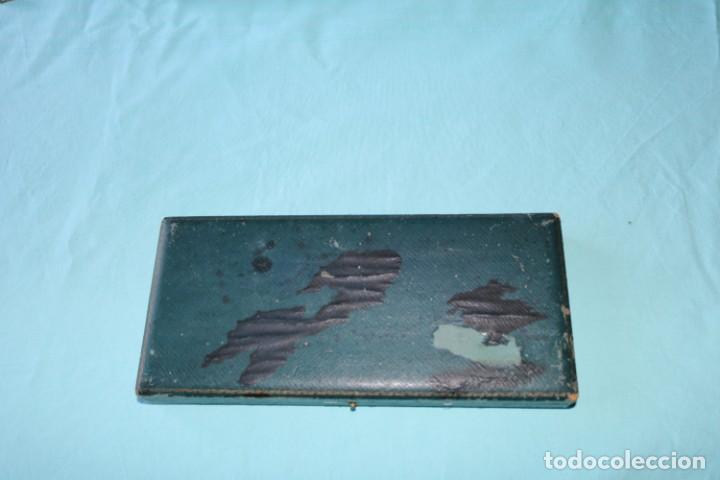 Escribanía: Estuche de escribanía art Nouveau plateada. Art Nouveau box of silver plated pen set. - Foto 4 - 53138397