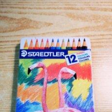 Escribanía: STAEDTLER 12LAPICES DE COLORES CON CAJA METALICA A ESTRENAR. Lote 205785241