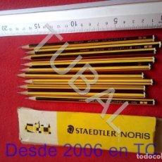 Escribanía: TUBAL 10 LAPIZ STAEDTLER NORIS 120 1 EN CAJA CJ4. Lote 206361578