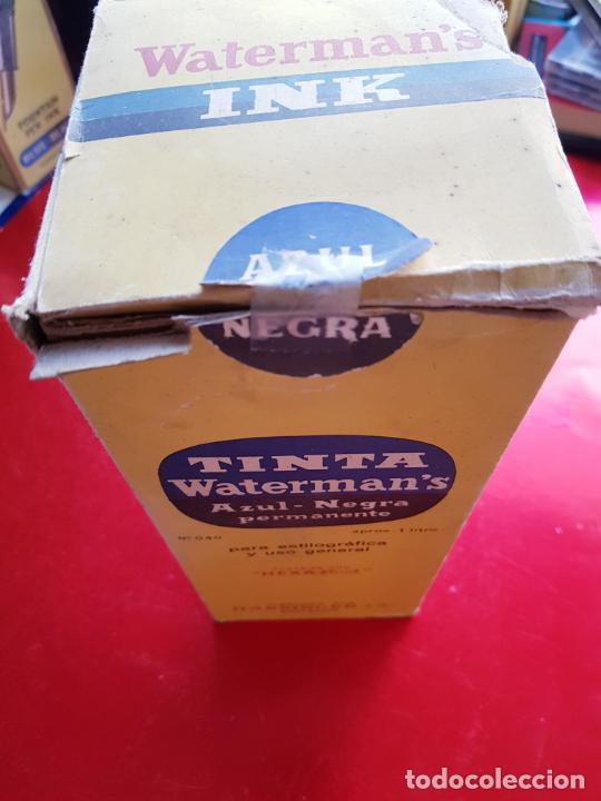 Escribanía: 5034-botella-tinta waterman´s-1 litro-azul/negro-hassinger(barcelona)-nos-aplicador-buen estado - Foto 3 - 124588535