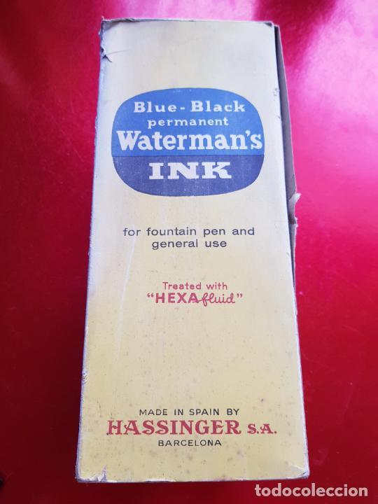 Escribanía: 5034-botella-tinta waterman´s-1 litro-azul/negro-hassinger(barcelona)-nos-aplicador-buen estado - Foto 7 - 124588535