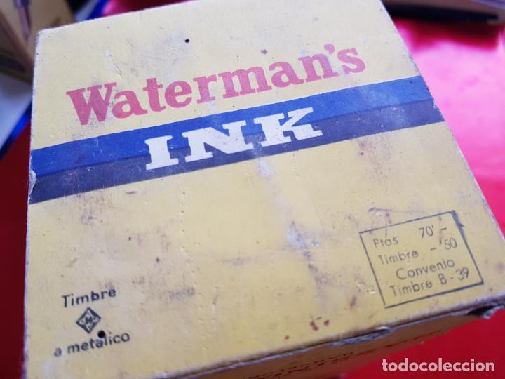 Escribanía: 5034-botella-tinta waterman´s-1 litro-azul/negro-hassinger(barcelona)-nos-aplicador-buen estado - Foto 13 - 124588535