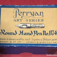 Escribanía: ANTIGUA CAJA DE PLUMILLAS PERRYAN. PERRY & CO. NÚMERO 1174. LONDON.. Lote 207316286